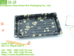 Plastic Sushi Take Out Container With Anti-fog Lid EG-1.5