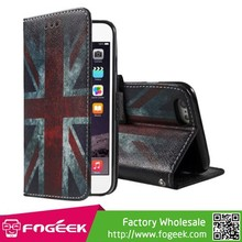 Callfree Retro Union Jack Flag Wallet Stand Leather Case for iPhone 6 Plus