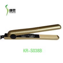 "1.25"" plate gold color professional ceramic hair straightener flat iron"