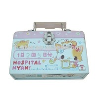 first-aid tin case with lock and handle