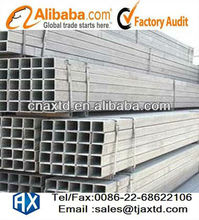ASTM A500 Grade B Hot Dip Galvanized Rectangular Mild Steel Tubes