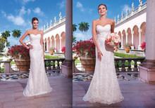 2015 Custom made Sweetheart Bridal/Wedding gowns Sheath Floor Length Lace Wedding Dress 2015