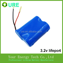 LiFePO4 3.2v battery 6ah/6.4ah with BMS