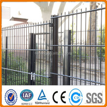 Green PVC Twin Wire Weldmesh Fence Systems /656 mesh / 868 fence