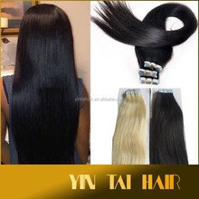 Hot on aliexpress high quality low price super synthetic taped hair extension 10-20 inch