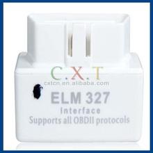 2014 New White MINI ELM327 Bluetooth OBD2 / OBDII ELM 327 V1.5 Auto Diagnostic Interface Scanner
