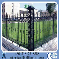high quality powder painted prefabricated Villa Security fence zinc faux wrought iron fence
