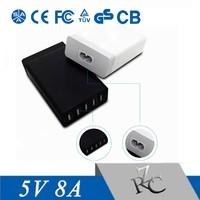 5 port 5V8A usb charger 40W for mobile phone