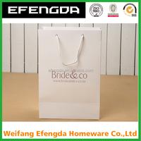 custom white kraft paper bag brown kraft paper bag for shopping