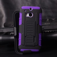 2015 Best Selling Wholesale Armor Impact Skin Holster Protector Combo Mobile Cover Case For HTC One M8 ,For Htc M8 Case Cover
