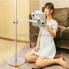 F-3 Universal Tablet Floor Stand 360 Turn Height Adjust tablet/phone 6/6+ Stand/holder