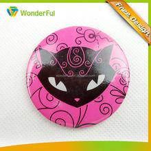 Wholesale Cheap custom plastic lovely tin button badge for lover