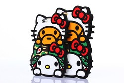 Fashion Candies Hello Kitty 3D Silicone Soft Case for iPhone 6 4.7 5.5