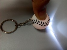 2015 new item toys led mini keychain ball style key buckle for dubai wholesale market