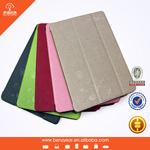 factory sell real leather folding case with PC shell for ipad