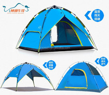 Canvas Fabric and Fiberglass Pole Material outdoor camping tent with vestibule