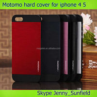 Mobile accessories phone case Motomo rubber hard case cover for iphone 4 4s 5 5s