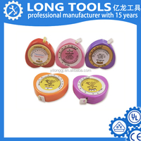 Mini retractable bmi promotional plastic tape measure use for measuring