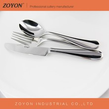 European style 304 stainless steel cutlery set for hotel