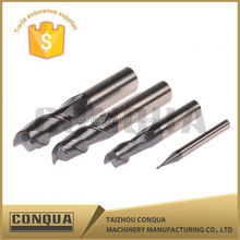TialN coating solid carbide cutting tool flat 6 flute carbide end mill