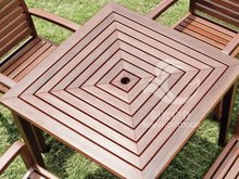 wood table and chairs meri wood outdoor and garden table and chairs
