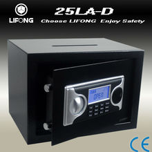 LCD display deposit slots and security safes