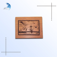 Custom Printed Hand Carved Antique Laser Machine Etching Eagles Wood/Wooden Plate