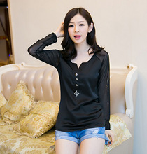Custom OEM cotton woman t-shirt print graphic side zip tees online shopping for clothing t shirt