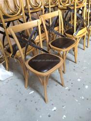 Timber Wedding Cross Back Chair