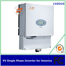 1500w single phase solar inverter MPPT transformerless UL FCC IEEE CSA approved for America