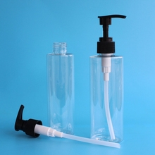 Factory supply PET shampoo bottle with pump sprayer fast shipping