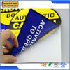 Customized blue label design printing double side label sticker