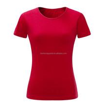 Fashion women plain tshirt, high quality combed cotton women tshirt, custom women tshirt