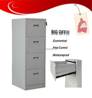 Jordan Office Used Durable Vertical Metal Drawer Cabinet Hanging File Metal Chest Storage Box