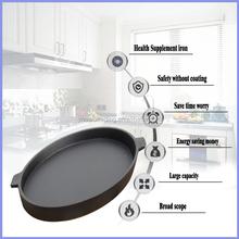 40cm wrought iron cooking pan,grill pan