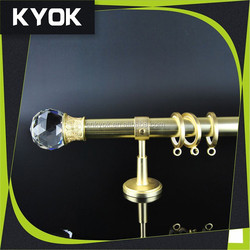 2015 popular diamond curtain rod wholesale,metal curtain rod finials for home window,classic double iron curtain rods for window