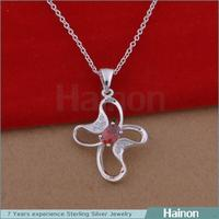 Wholesale Clover Flower Styles Red Zircon Lady Pendant Necklace Alibaba Online Shopping