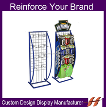 Factory Metal Hook Display Stands Retail Hanging Display Stand with advertising board