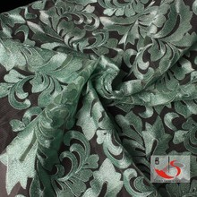 Army green african george lace scalloped lace
