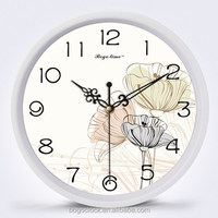 Plastic Art painting wall clock with various desgin
