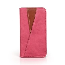 Fashion PU leather color match mobile phone flip case for Iphone 6