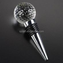 New Design Golf Ball Crystal Wine Stopper For Wedding Favors SJ-JPS224