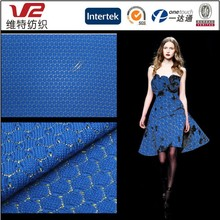 80% Polyester 20% Spun Gold Knitting Jacquard Fabric For Ladies' Fashion Clothes