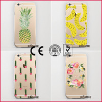 Phone case manufacturer specialized custom protective transparent phone back case cover print for iphone 6 from china