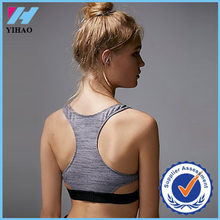 Yihao women fashion new design with top quality performance yoga sports girl tube sexy dri fit sports bra fitness yoga bra