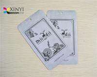 Printed clothing hang tag China supplier