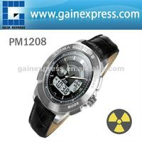 PM1208 (leather strap) Gamma Master II, Radiation watch Calibrated by Polimaster Ltd.(Belarus)