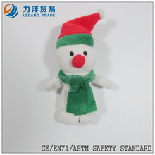 Plush finger puppets(snowman), Customised toys,CE/ASTM safety stardard