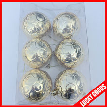 make it wholesale blank christmas ornament in gold color