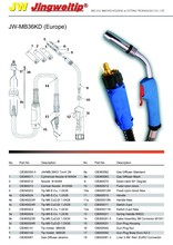 MB-36KD Europe mig welding torch/gun